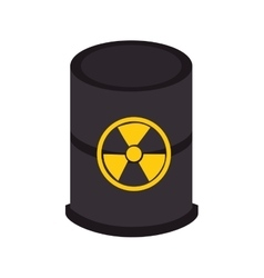 Nuclear tank barrel isolated icon vector