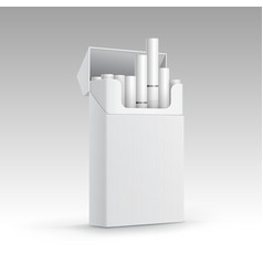 Opened Pack of Cigarettes Isolated on Background vector image vector image
