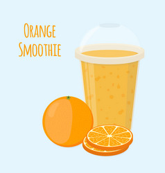 Orange detox drink cartoon flat style vector