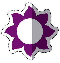 Purple flower with pointed petals icon vector