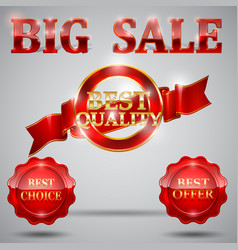 sale-tags-set vector image