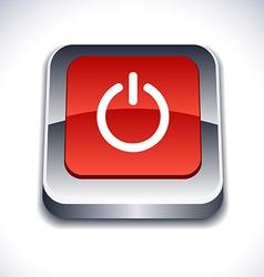 Switch 3d button vector