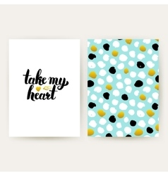 Take my heart hipster posters vector