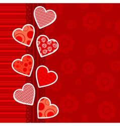 template heart greeting card vector image vector image