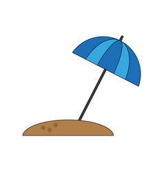 umbrella striped icon image vector image vector image