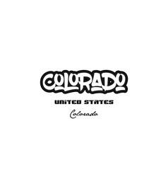 United states colorado city graffitti font vector