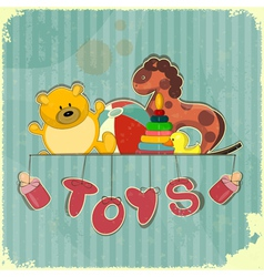 Vintage Design Toy Shop vector image vector image