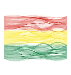 Wave line flag of bolivia vector