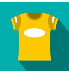 Yellow t-shirt template icon flat style vector