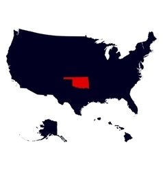 Oklahoma state in the united states map vector