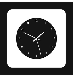 Mechanical watch icon simple style vector
