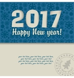 Christmas card for 2017 vector image