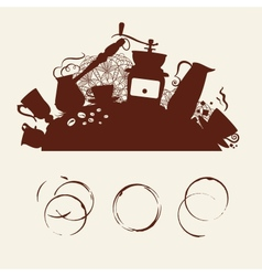 Coffee abstraction vector