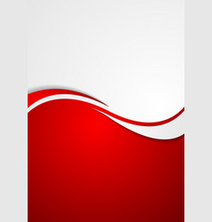 Corporate background flyer with waves vector
