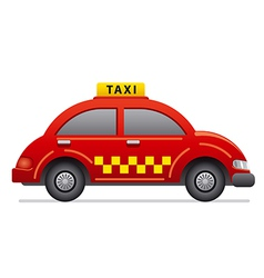 red taxi icon vector image