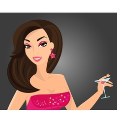 Brunette woman vector