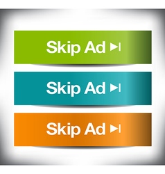 3 skip ad banners vector