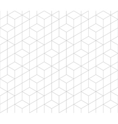 Hexagonal abstract connection seamless pattern vector