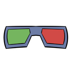 3d glasses icon cartoon vector