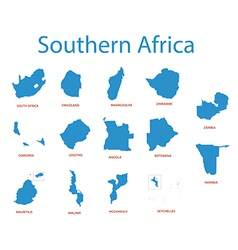 Southern africa - maps of territories vector
