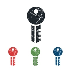 Key grunge icon set vector