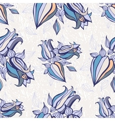 Bell flowers seamless background vector