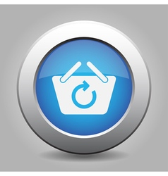 Blue button - shopping basket refresh vector