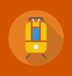 Transportation flat icon tram vector