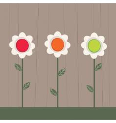 traffic light flowers vector image
