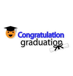 Congratulation graduation on white background vector