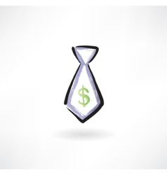 business tie grunge icon vector image