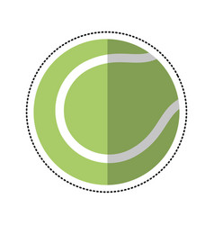 Cartoon tennis ball racket sport icon vector