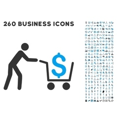 Cash out icon with flat set vector