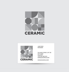 ceramic logo ceramic tiles shop vector image