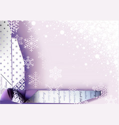 Christmas background with wrapping decoration vector