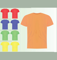 Colorful set of classic template t shirts vector