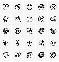 Crazy icons vector