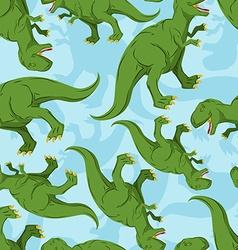 Dinosaur seamless pattern Dino texture vector image vector image