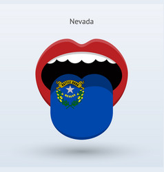 electoral vote of nevada abstract mouth vector image vector image