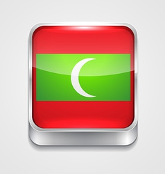 Flag of maldives vector