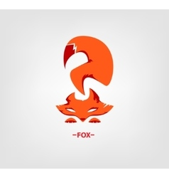 Fox logo on white background vector image vector image