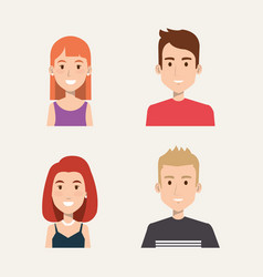 group of people students portrait young style vector image