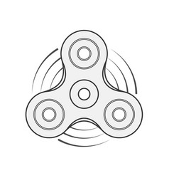 Hand spinner template vector