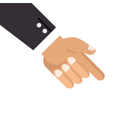 Hand with finger pointing down vector