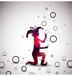Jester juggling rings vector