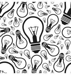 Lightbulb seamless pattern vector