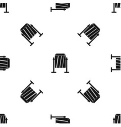 Metal dust bin pattern seamless black vector