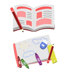 Opened Book Cartoon Clip Art vector image vector image
