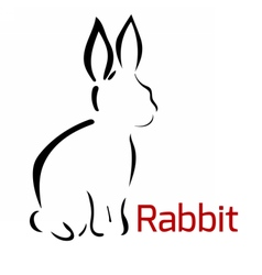 rabbitlogo vector image vector image