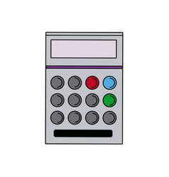 school calculator math number counts vector image vector image